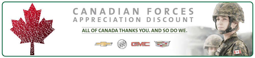 GM Canadian Forces Appreciation Discount
